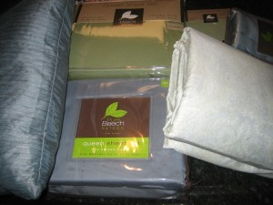 Pillow, 2 sheet sets, matching extra pillowcases, and the duvet cover!