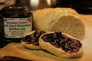 Hot bread with handmade jam is the best! Thanks to my August Foodie Pen Pal for the jam--it's awesome!
