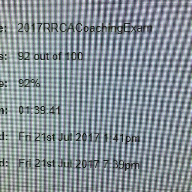 Andjust like that I passed my rrcanational coaching certification exam!hellip